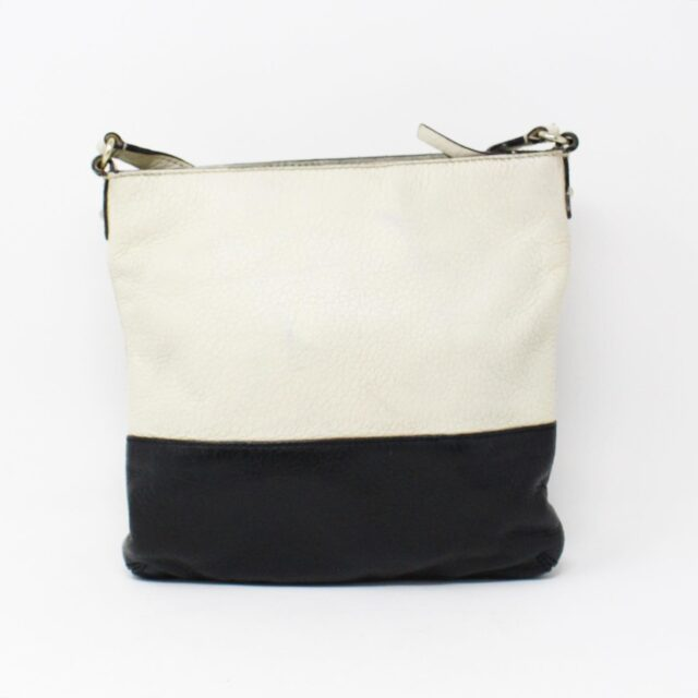 KATE SPADE White and Black Leather Crossbody 28029 2