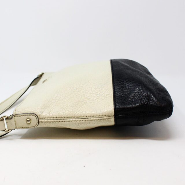 KATE SPADE White and Black Leather Crossbody 28029 3