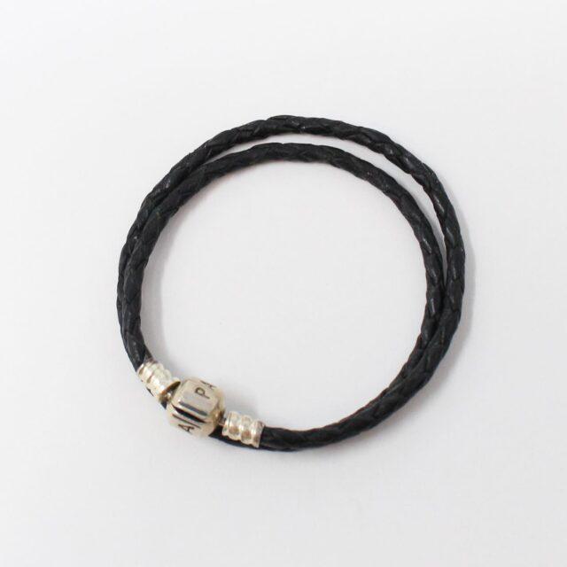 PANDORA Black Leather Bracelet 12905 1
