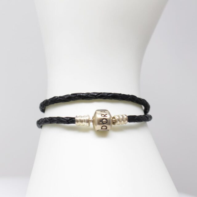 PANDORA Black Leather Bracelet 12905 2