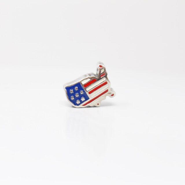 PANDORA Sterling Silver USA Flag 12614 1