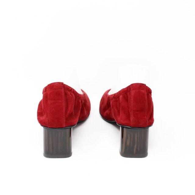 ROBERT CLERGERIE Red Suede Pumps US 10.5 EU 40.5 28331 2