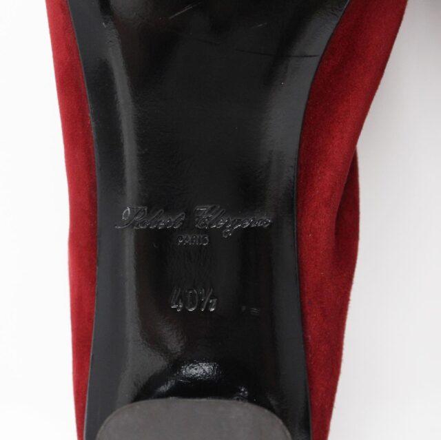 ROBERT CLERGERIE Red Suede Pumps US 10.5 EU 40.5 28331 5