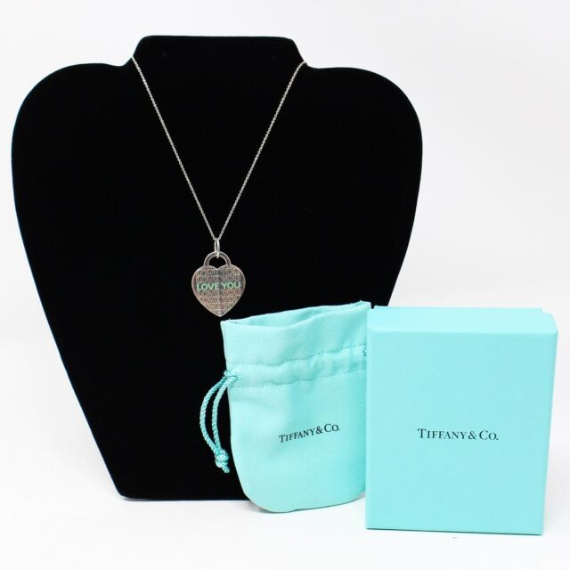 TIFFANY CO. Silver Love You Necklace 28606 1