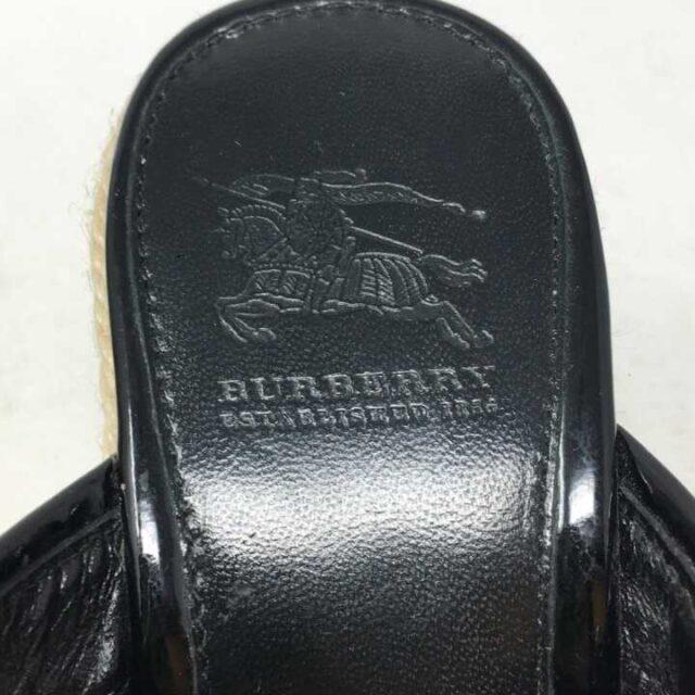 BURBERRY Black Nova Check Wicker Wedges US 6 EU 36 29025 6