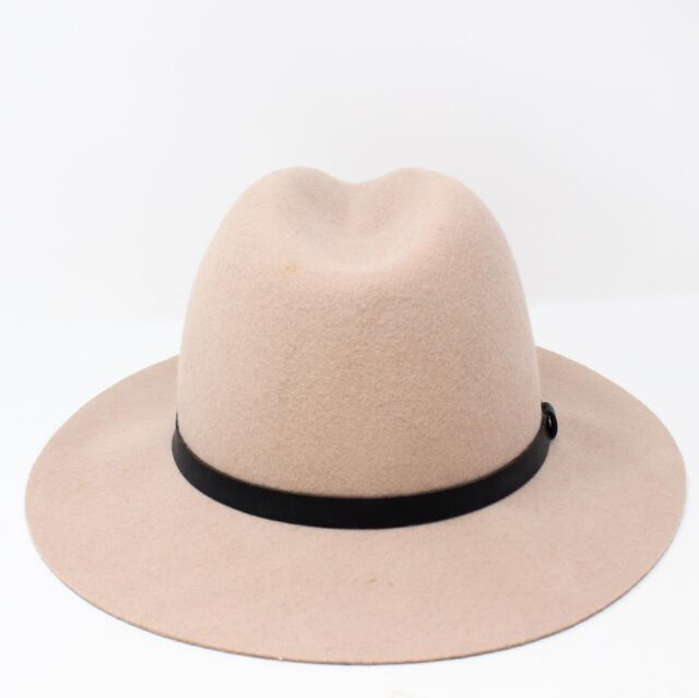 Blush Pink Felt Fashion Hat 26854 3