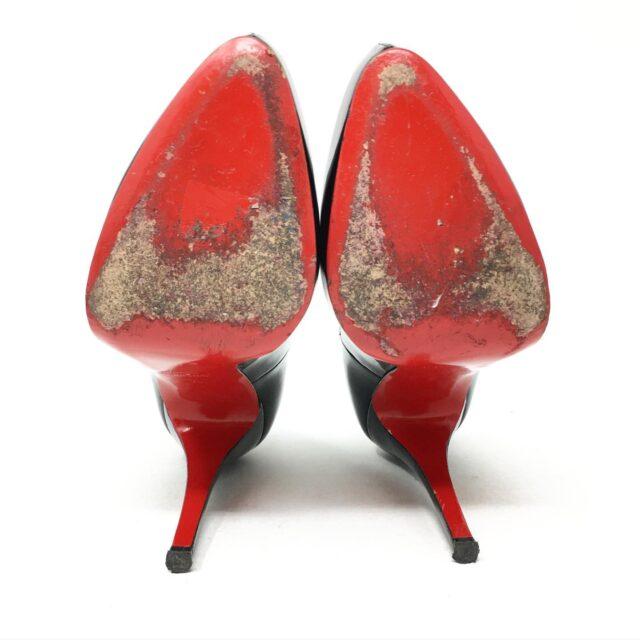 CHRISTIAN LOUBOUTIN Black Patent Leather Heels US 8 EU 38 28601 5