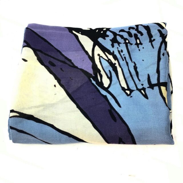 COACH Multicolored Blue Scarf 28715 1