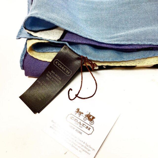 COACH Multicolored Blue Scarf 28715 3