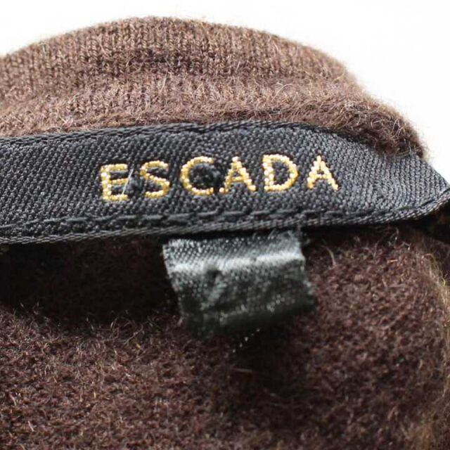 ESCADA Brown Cashmere Top Size XS 26266 4