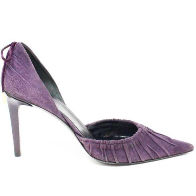 GUCCI Purple Suede Heels US 7 EU 37 28797 2