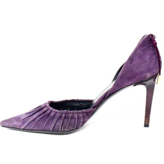 GUCCI Purple Suede Heels US 7 EU 37 28797 3