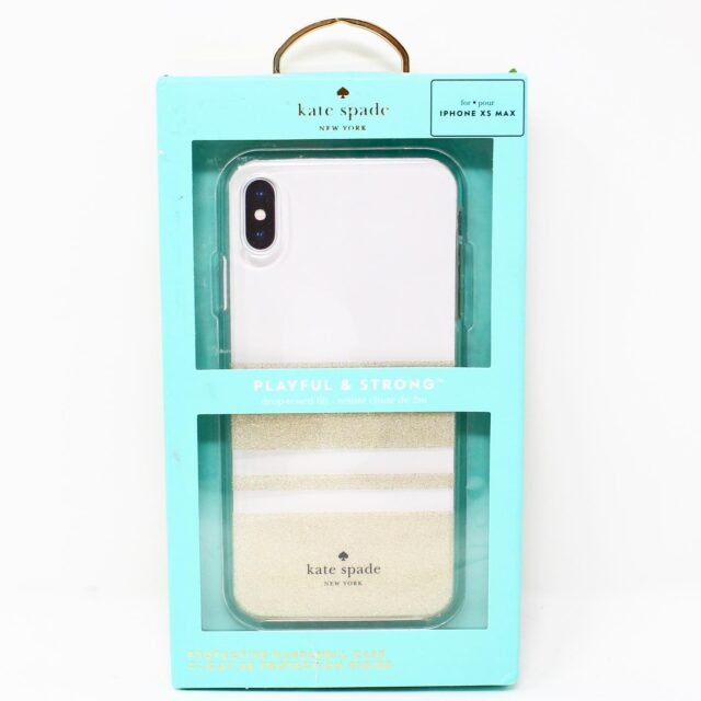 KATE SPADE Clear Glitter iPhone Xs Max Case 25524 1