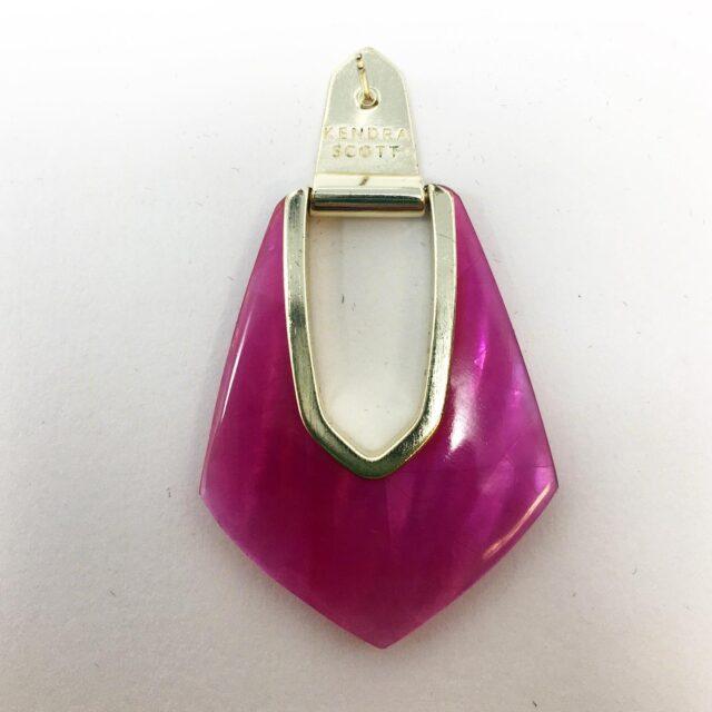 KENDRA SCOTT Magenta Drop Earrings 28585 3