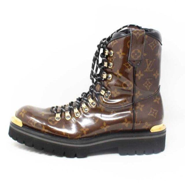 LOUIS VUITTON Monogram Canvas Glaze Outland Ankle Boots US 9 EU 39 29059 2