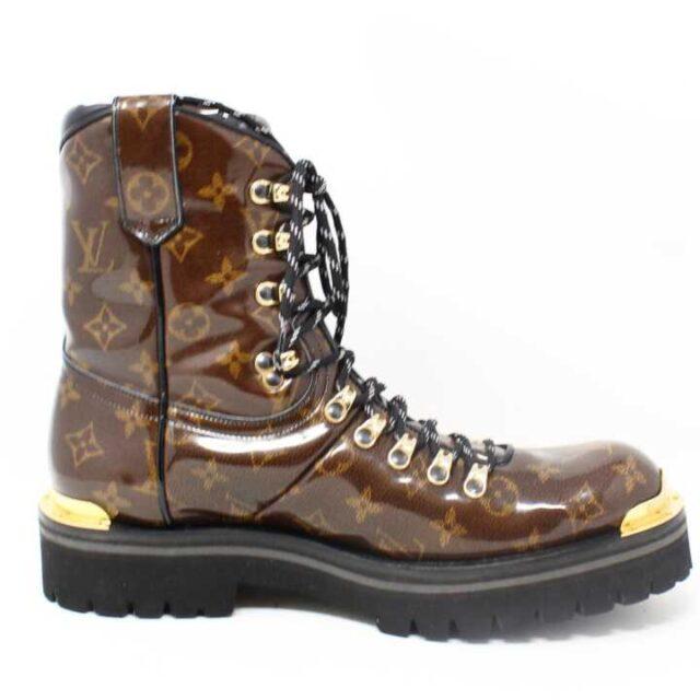 LOUIS VUITTON Monogram Canvas Glaze Outland Ankle Boots US 9 EU 39 29059 3