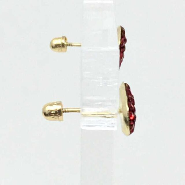 LUKA LIFESTYLE Red 14Kt. Gold Earrings 29035 2