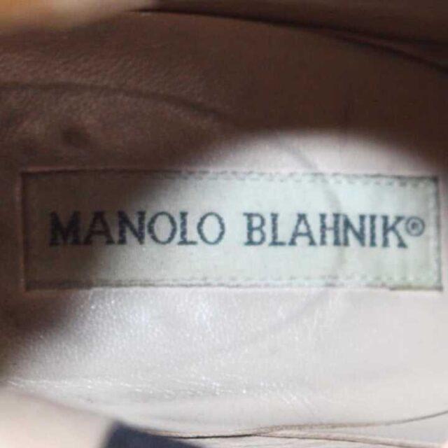 MANOLO BLAHNIK Black Leather Boot Heels US 9 EU 39 29040 5