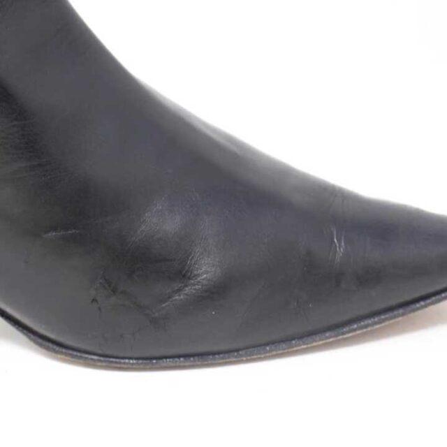 MANOLO BLAHNIK Black Leather Boot Heels US 9 EU 39 29040 6