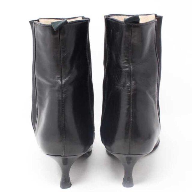 MANOLO BLAHNIK Black Leather Boot Heels US 9 EU 39 29040 9