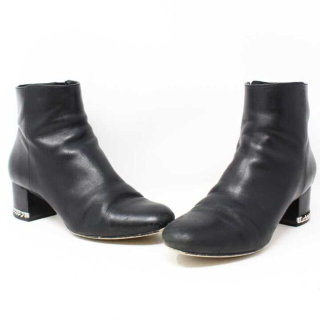MICHAEL KORS Black Leather Boots US 6.5 EU 36.5 28946 1