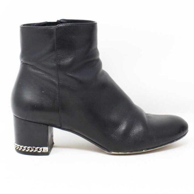 MICHAEL KORS Black Leather Boots US 6.5 EU 36.5 28946 2