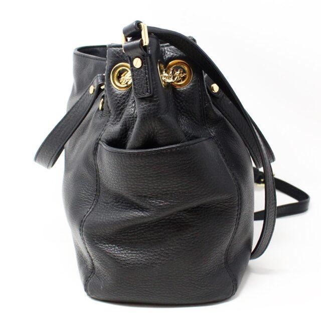 MICHAEL KORS Black Pebbled Leather Crossbody Tote 22557 2
