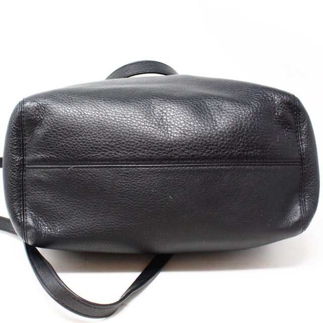 MICHAEL KORS Black Pebbled Leather Crossbody Tote 22557 4