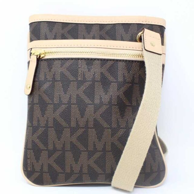 MICHAEL KORS Polyvinyl Chloride Brown Crossbody 29001 1