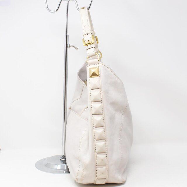 MICHAEL KORS White Leather Handbag 19045 2