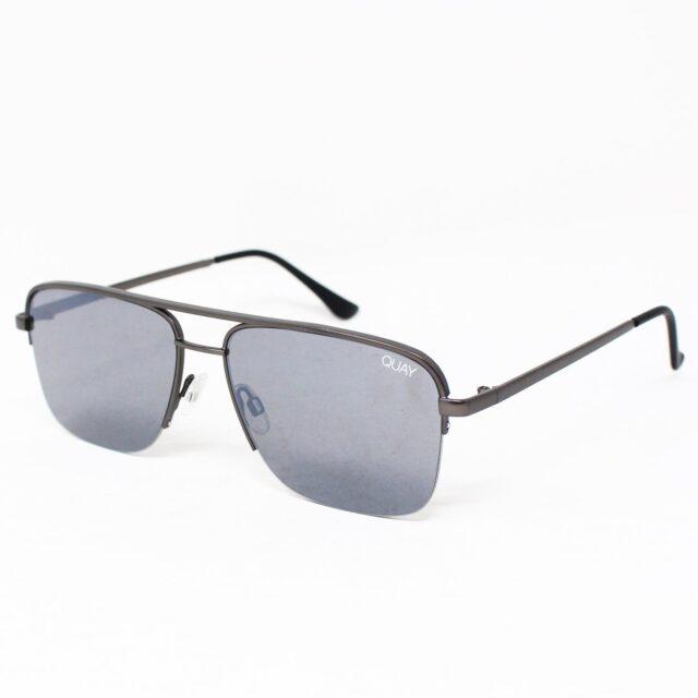 QUAY AUSTRALIA Matte Squared Gray Sunglasses w caseNEW w tags 27600 1