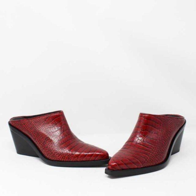 RAG BONE Red Croc Print Leather Boots US 8 EU 38 28349 1