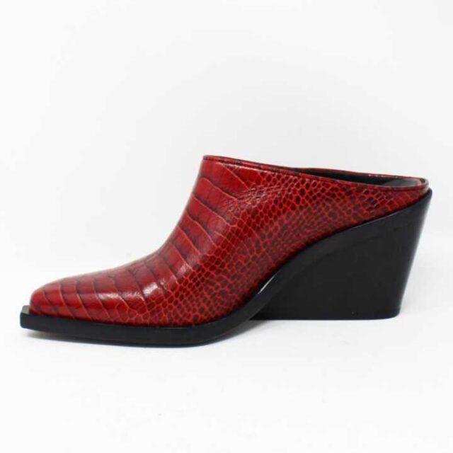 RAG BONE Red Croc Print Leather Boots US 8 EU 38 28349 3