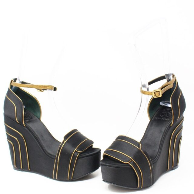 TORY BRUCH Black Wedges 28686 1