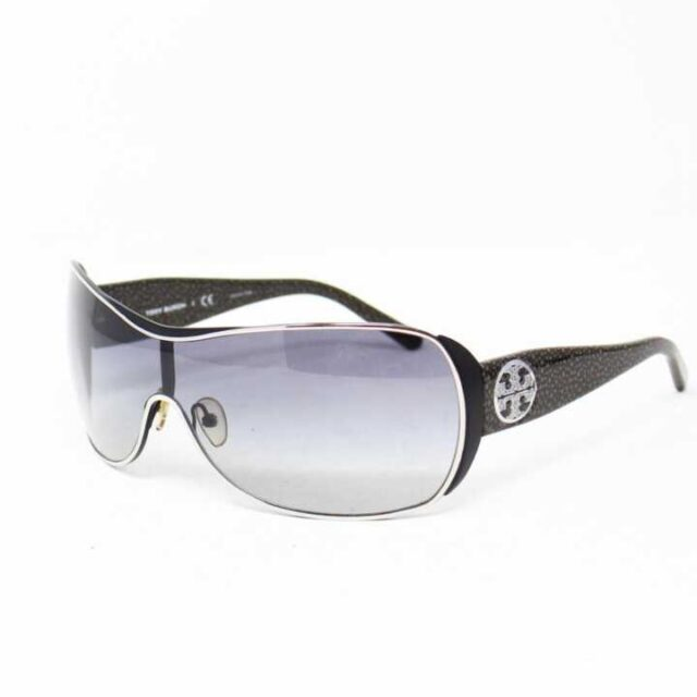 TORY BURCH Black Round Sunglasses 27305 1 2