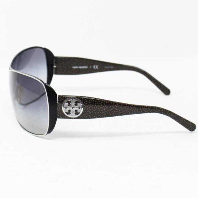 TORY BURCH Black Round Sunglasses 27305 2 1