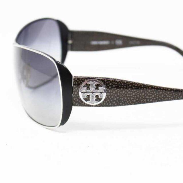 TORY BURCH Black Round Sunglasses 27305 3 1