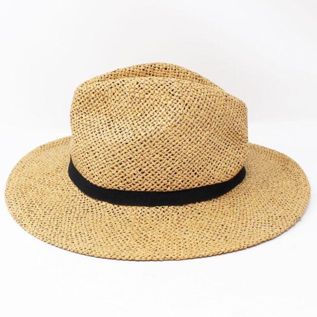 Tan Wicker Fashion Hat 26867 2