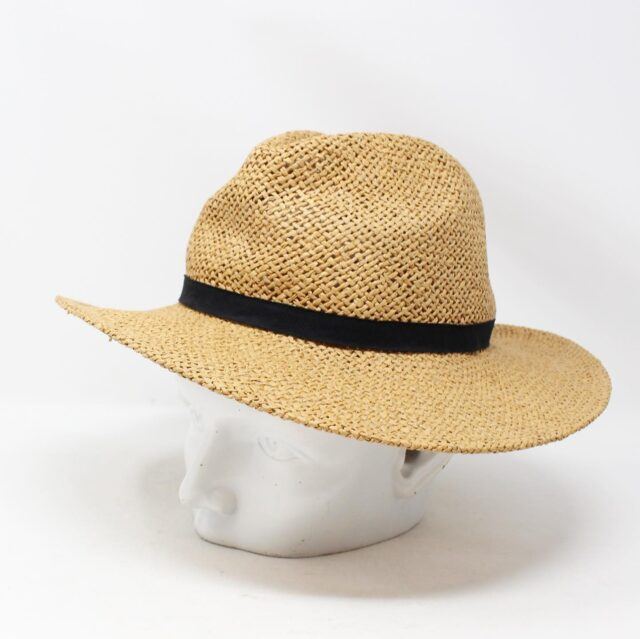 Tan Wicker Fashion Hat 26867 4