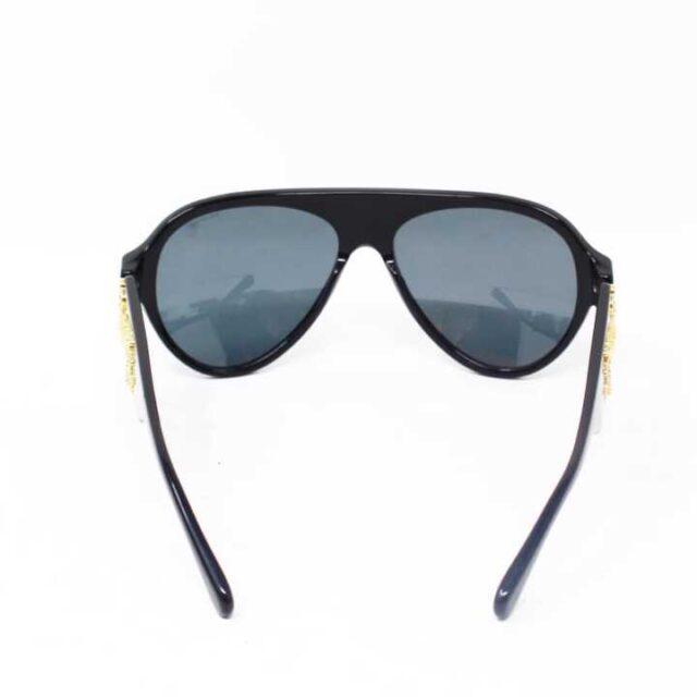 VERSACE Black Polarized Sunglasses 29046 6