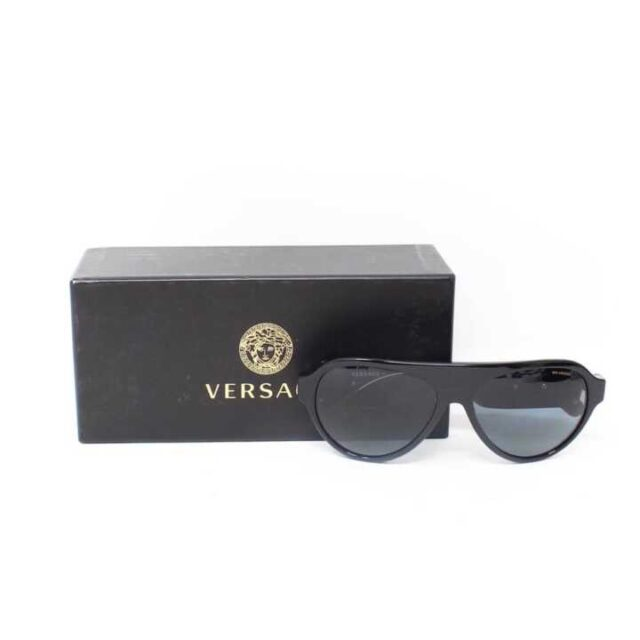VERSACE Black Polarized Sunglasses 29046 9