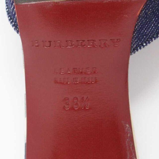 BURBERRY Denim Heels US 8.5 EU 38.5 29182 5 1