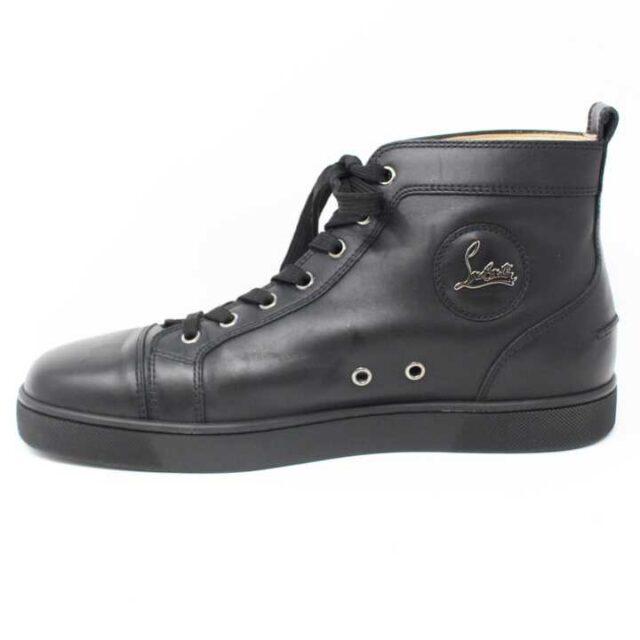 CHRISTIAN LOUBOUTIN Black Mens Leather Louis Flat Sneakers US 9.5 EU 39.5 29249 3