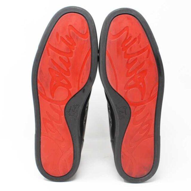 CHRISTIAN LOUBOUTIN Black Mens Leather Louis Flat Sneakers US 9.5 EU 39.5 29249 4