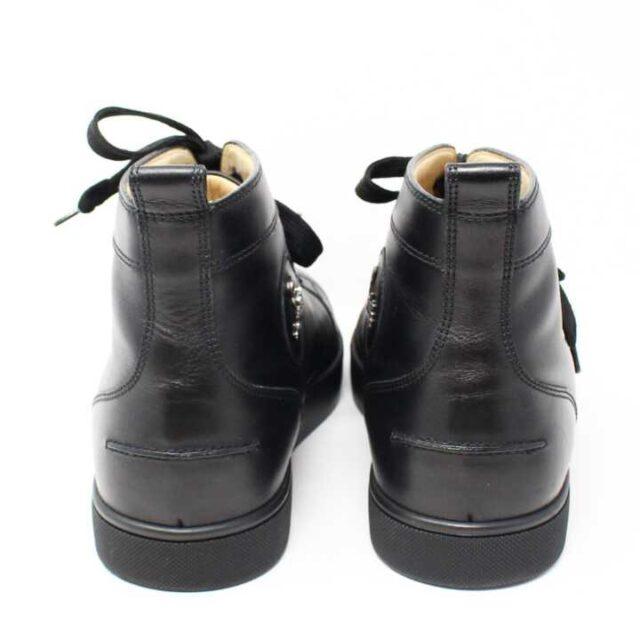 CHRISTIAN LOUBOUTIN Black Mens Leather Louis Flat Sneakers US 9.5 EU 39.5 29249 7