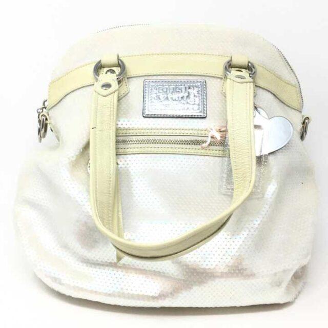 COACH White Sequence Handbag 29225 1