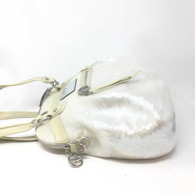 COACH White Sequence Handbag 29225 2