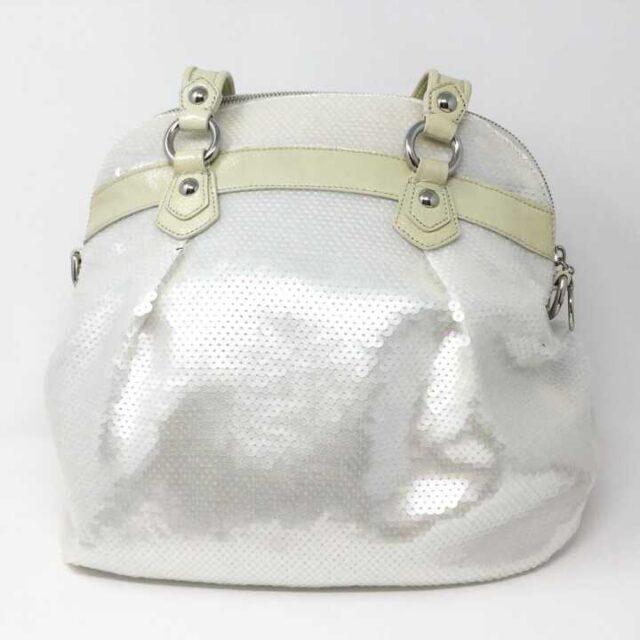 COACH White Sequence Handbag 29225 3