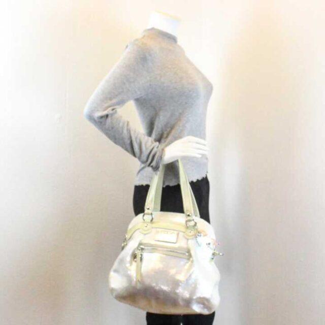 COACH White Sequence Handbag 29225 7