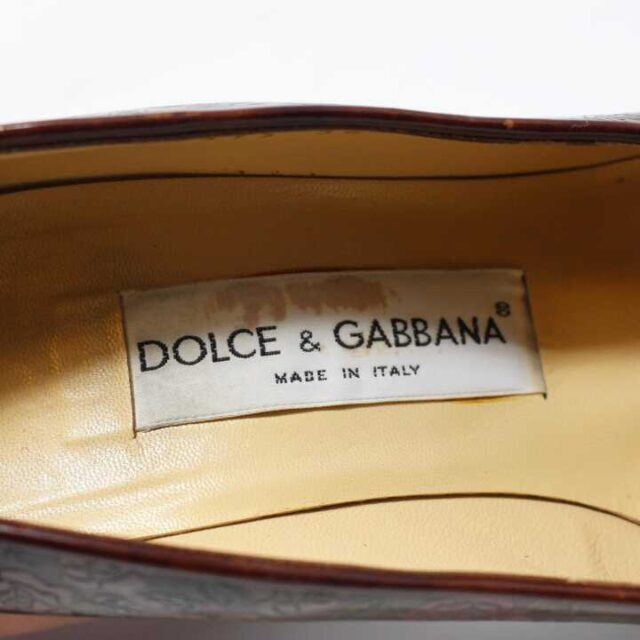 DOLCE GABBANA Brown Floral Leather Pumps US 6 EU 36 29177 4